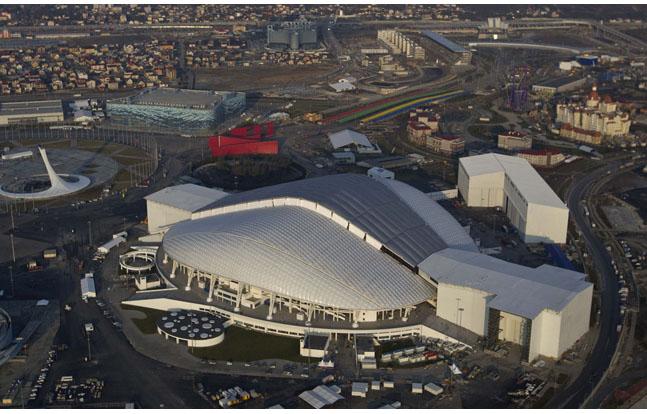 Fisht Olympic Stadium in Sochi, Russia.