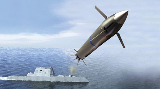 The US Navy is looking into using BAE's Five-Inch Guided Round for its surface fleet