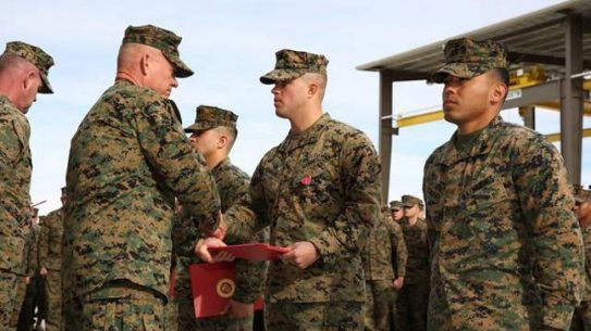 USMC Tank Crew Members Honored for Exemplary Service