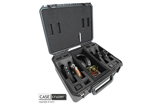 CaseCruzer Universal Shooting Range 4 Pack Handgun Case