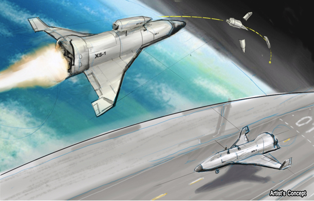 DARPA's Experimental Spaceplane XS-1 will have its first orbital test flight in 2018