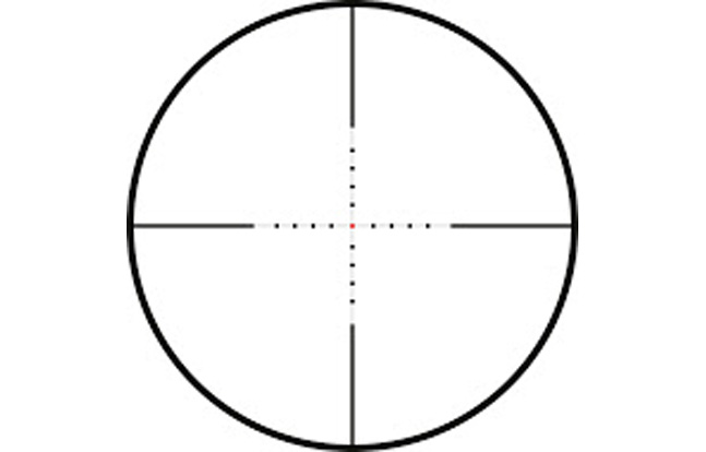 Mil Dot Centre Dot Red