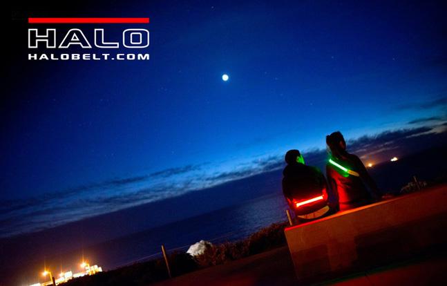 LED illuminated bright nighttime visibility