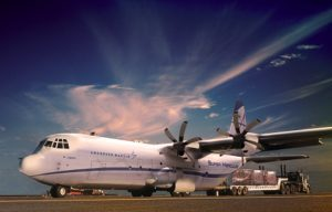 Defense contractor Lockheed Martin launched the civil version of their C-130J Super Hercules transport aircraft