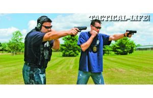 Regularly practicing one-handed shooting on the range with your duty and backup weapons will lead to capability and confidence.