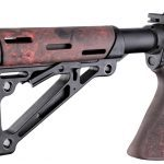 Hogue Rubber OverMolded Collapsible Buttstock | Red Lava