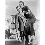 Bonnie Parker and Clyde Barrow, pictured here sometime between 1932 and 1934.