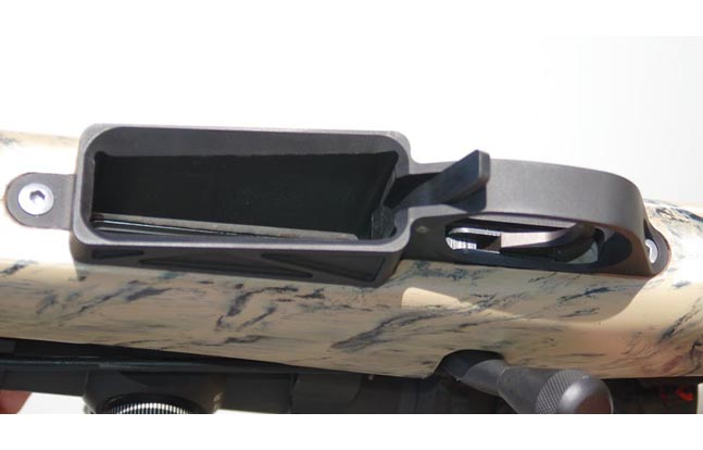 Stiller's Precision Firearms Detachable Bottom Metal Installed in McMillan A3-5 stock with 10 round AW magazine