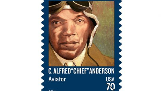 "Tuskegee Airman C. Alfred ""Chief"" Anderson is set to be honored with a United States Postal Service stamp."