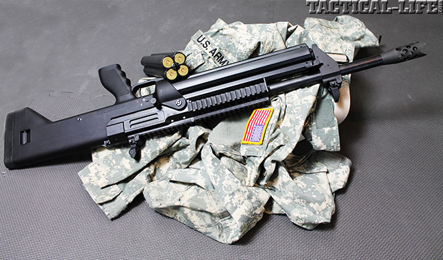 12 New Tactical Shotguns For 2014 - SRM Model 1216 Gen 2 Left Side w Spare Mag