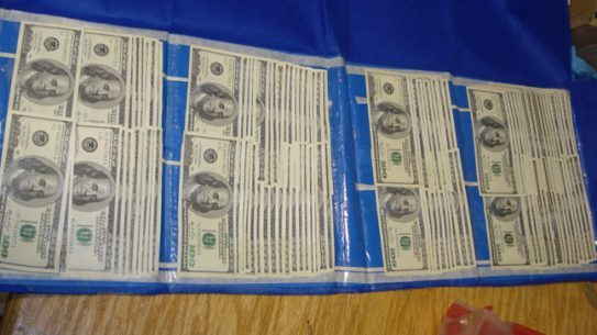U.S. Customs and Border Protection (CBP) Officers at John F. Kennedy International Airport seized 1,213 counterfeit $100 dollar bills.