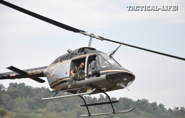 "To make first-round hits in Greg Coker's Helicopter Aerial Rifle Marksmanship (HARM) course, students must learn to communicate with their pilots, judge ""lag"" correctly and exercise excellent trigger control."