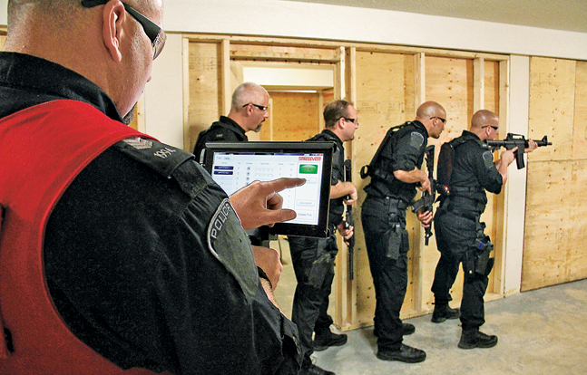 Setcan's StressVest system can be configured to work with long guns, and field training officers can monitor every trainee's equipment in real time with the included software.
