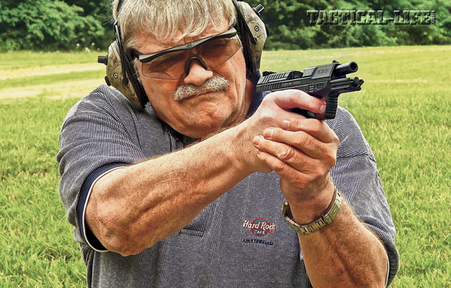 At the range, the author found the 9mm Walter P99 AS fast, accurate and soft-shooting, even while shooting on the move or engaging multiple targets.