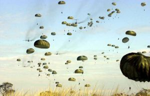 Russia has air-dropped over 3,000 paratroopers during a military exercise for the first time in two decades.