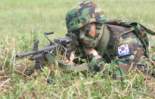 12 Rifles, Machine Guns, Shotguns, & Pistols Used by ROK Marines