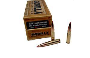 Gorilla Ammunition .300BLK Subsonic 208gr Hornady A-MAX