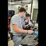 Stumpies Custom Guns owners Johnny Morris (left) and Brad Lang (right) hard at work in their newly opened, full-service gunshop in Swansboro, NC.
