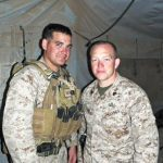 2011: Johnny and Brad in Helmand Province, Afghanistan, before each departed to their prospective areas of operation.