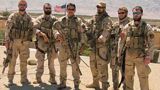 Marcus Luttrell (third from right) stands with some of the SEALs who fought bravely in Operation Red Wings.