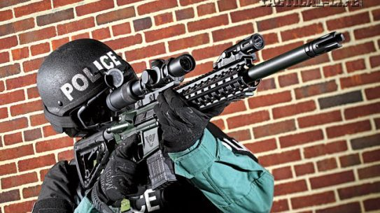 Wilson Combat's Recon Tactical in .458 SOCOM offers plenty of knockdown power to ensure mission success. Shown with a U.S. Optics 1-8X SR-8C scope and Inforce WML.