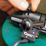 "SAFETY CHECK: Reassemble the rifle, including installing the bolt, and check the function of the trigger and the safety. Make sure the safety will go on and that it is working in both the ""on"" and center positions. Once in a while the safety will not work, which requires the bolt be disassembled and a bit of clearance be cut with a file. Timney can provide instructions on how to do this in the unlikely event it is necessary. Check to make sure the trigger is releasing properly. The trigger safety should also be checked by cocking the gun and, with the safety off, thumping the butt hard on the floor to make sure the trigger will not jar enough to release. This new trigger breaks cleanly at 1.5 pounds, which is excellent for precision long-range shooting."
