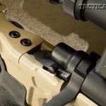The rifle's Remington 700 action is fitted with a two-position safety that is easy to manipulate without shifting your shooting position.