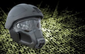 Army researchers envision a fan embedded within the mask's filtration system that uses less power, is lighter and is far less bulky than conventional respirators.