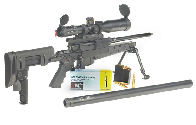 A fine example of Swiss gun-maker B&T's attention to detail, the APR precision rifle is designed for suppressor use and available in .308 Winchester and .338 Lapua Magnum.