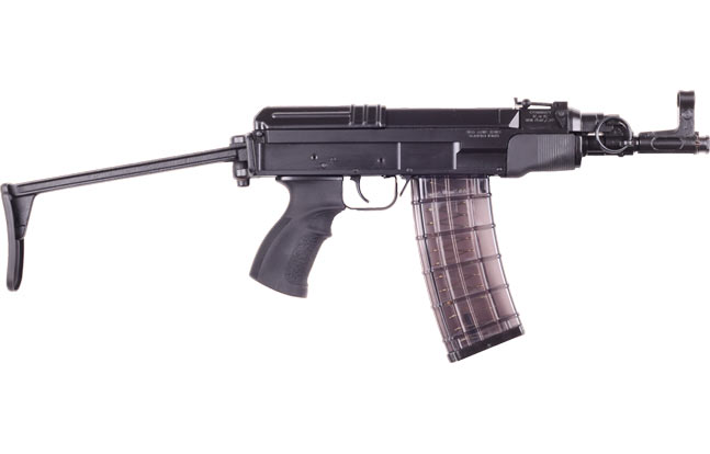 Czech Small Arms showcased several Sa vz. 58 rifles at the IWA show including its 5.56mm PDW version. Sa vz. 58 versions were in abundance at the IWA show, second only to AR-platform rifles