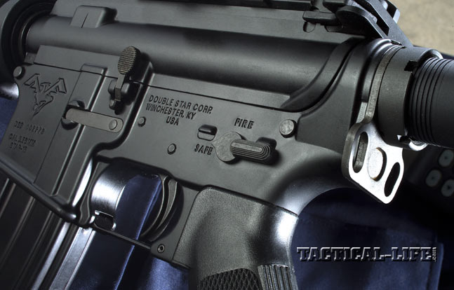 The controls are mil-spec, including the single-stage trigger within the standard triggerguard, the safety selector and the bolt release.