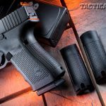 Among their duty-ready enhancements, Glock's Gen4 pistols come with interchangeable backstraps—in sizes small, medium and large—allowing users to customize their pistols for the best fit.