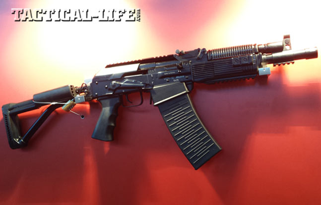 The Izhmash VEPR 12 short-barreled-shotgun features a detachable magazine for quick tactical reloads