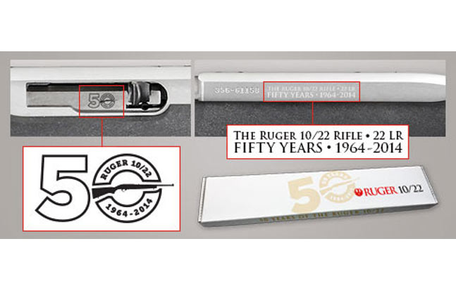 Ruger 10/22 50th Anniversary Rifle - extras