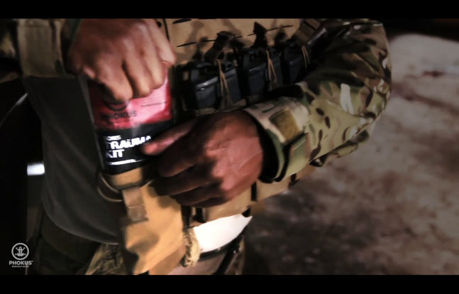 Phokus Research Group designed its Sons Trauma Kits with body armor and soldiers in mind. First responders can store the kit behind a ballistic plate or in a tactical vest pocket, ensuring they'll have trauma treatment supplies close at hand without sacrificing real estate on their combat belts.