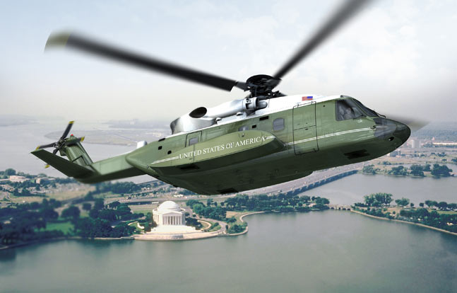Graphical rendering of the next 'Marine One' helicopter, built on the Sikorsky S-92 platform. (Photo credit: Sikorsky)