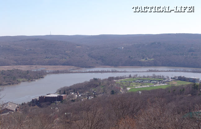 Looking down from Fort Putnam to the bend in the Hudson River that made West Point a choke point during the Revolutionary War.