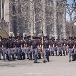 The noon Corps of Cadets formation just before lunch in Washington Hall.