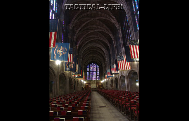 The Cadet Chapel was built in 1910 to allow for the increased size of the Corps of Cadets at West Point.