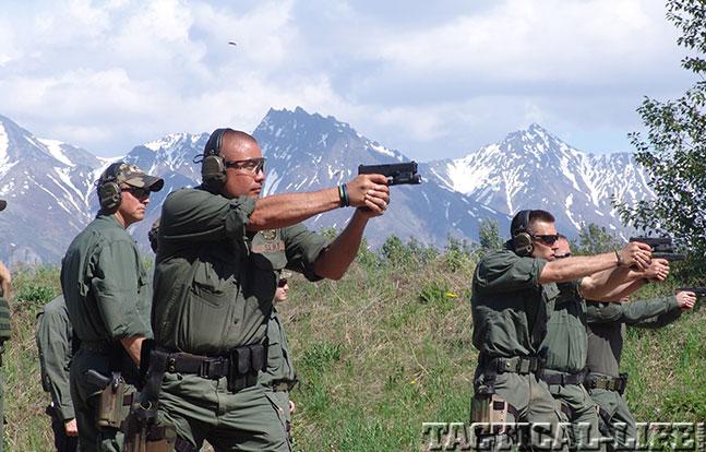 Alaska State Troopers handgun mountain