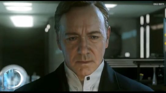"The trailer for ""Call of Duty: Advanced Warfare"" features Kevin Spacey as the head of a private military company waging war on the United States."