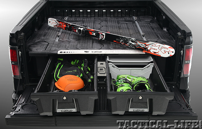 DECKED Truck Bed Storage System skiing