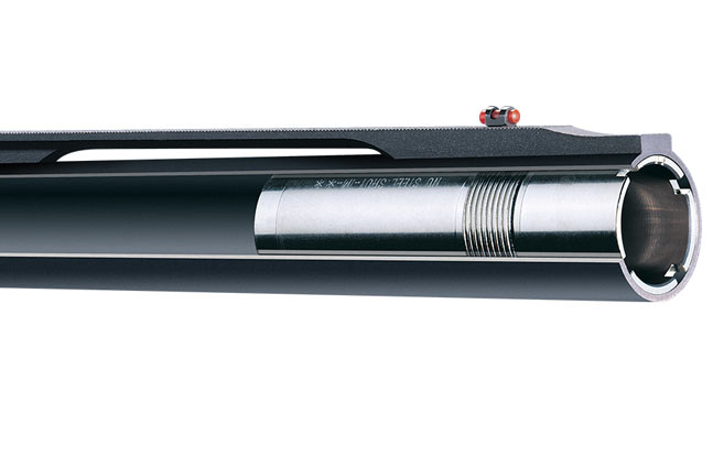 Benelli cryogenically treats barrels and choke tubes to increase pattern density.