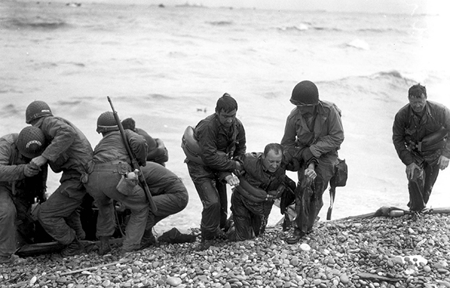 D-Day American landing party