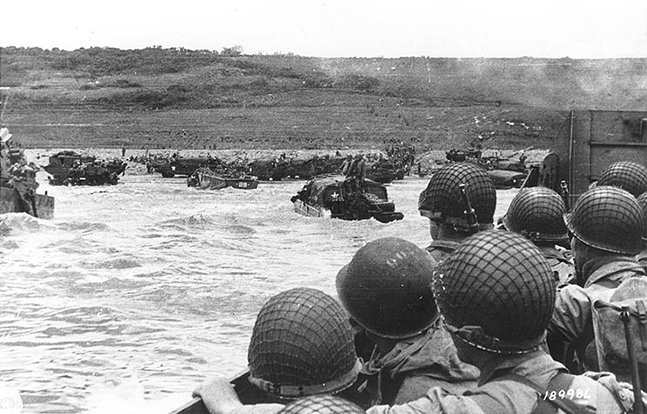 D-Day Omaha Beach approach