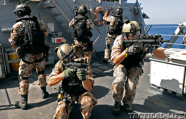 Danish Special Operations combat swimmers