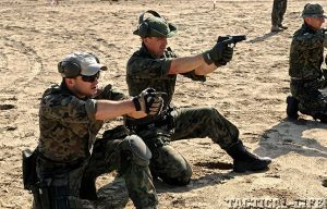 JWK Polish Commandos firing handguns