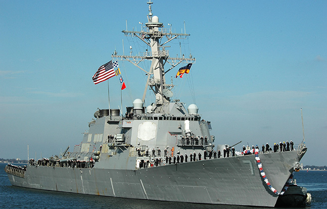 Navy Destroyer Ross new paint