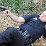 "Springfield Armory 4.0"" XD-S 9mm pistol police aim"