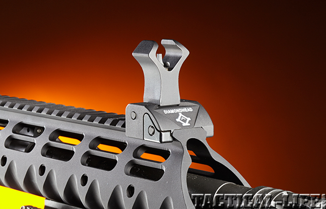 Stag Arms Model 3T-M rifle muzzle front sight